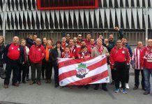 Peña del Athletic Club de Montijo en San Mamés, Bilbao