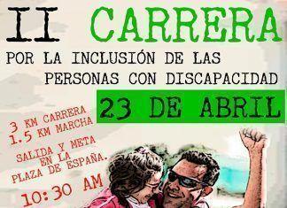 Cartel II Carrera por la Inclusión de las Personas con Discapacidad