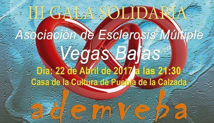 Cartel III Gala Solidaria de la Asociación de Esclerosis Múltiple Vegas Bajas