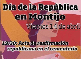 Cartel día de la república en Montijo
