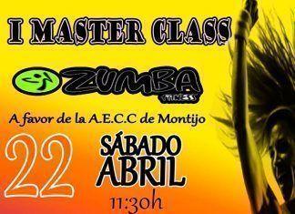 Cartel de la I Master Class Zumba a favor de la AECC de Montijo