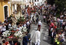 La procesion del Resucitado cierra la Semana Santa poblanchina