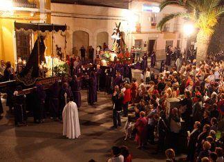Procesión del Encuentro, Jueves Santo en Puebla de la Calzada