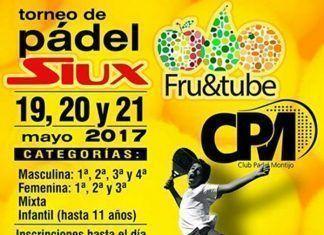 Cartel Torneo de Pádel Siux en Montijo