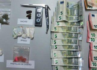 Droga intervenida por la Guardia Civil en las fiestas locales de Arroyo de San Serván