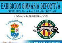 Cartel de Exhibición de gimnasia deportiva internacional en Puebla de la Calzada