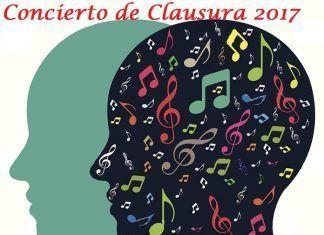 Cartel del Concierto de clausura del curso del Conservatorio Profesional de Música de Montijo