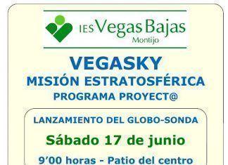 Cartel misión estratosférica VegaSky del IES Vegas Bajas de Montijo