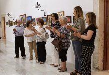 Inauguración en Olivenza de la exposición del taller artístico de la Once de Montijo