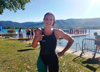 Lourdes Sánchez en el Campeonato de España de aguas abiertas