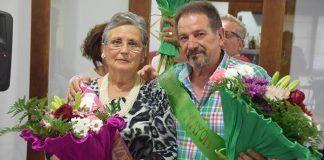 Manuel Díaz y María Germán, mister y miss tercera edad de las Fiestas de San Pedro 2017 de Puebla de la Calzada