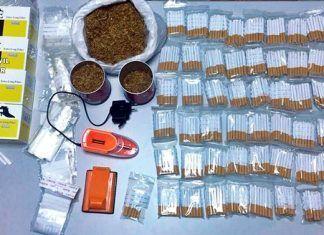 Tabaco intervenido en Montijo
