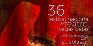 Cartel del 36 Festival Nacional de Teatro Vegas Bajas 2017