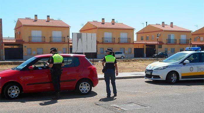 Control de la Policía Local de Montijo