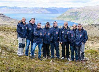 """Equipo de rodaje del documental """"Islandia, la isla recién nacida"""""""
