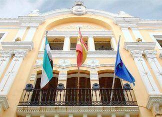 Fachada de la sede de Diputaión de Badajoz
