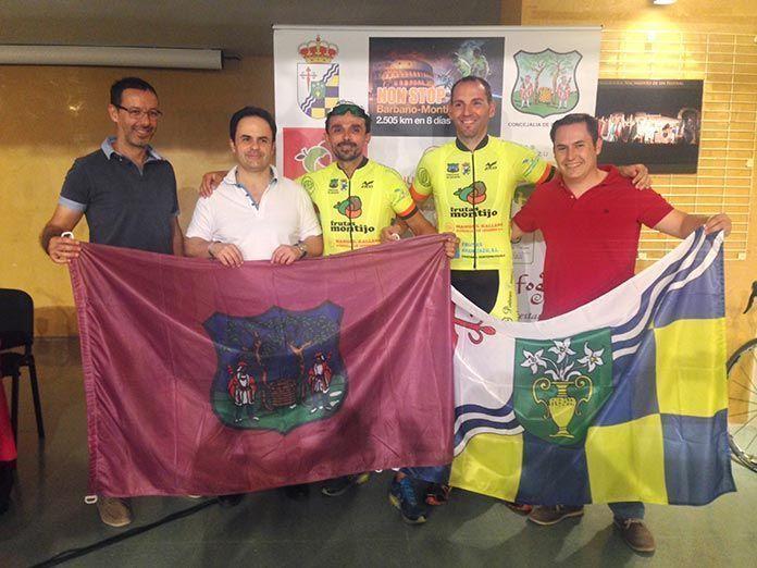 Presentación oficial del reto Barbaño-Montijo a Roma en bicicleta Non Stop
