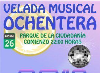 Cartel Velada Musical Ochentera en Valdelacalzada 2017