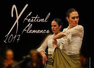 Cartel del X Festival Flamenco de Puebla de la Calzada