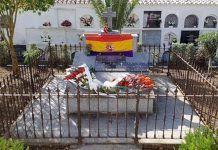 """Mausoleo en Valencia del Ventoso, uno de los 6 denunciados por el Ayuntamiento de Guadiana del Caudillo por """"incumplimiento de la Ley de Memoria Histórica"""""""