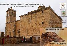 Cartel del Concurso Morfológico del Galgo Español, organizado por la Asociación de Galgueros de Montijo