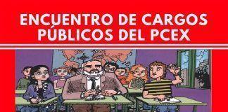 Cartel del Encuentro regional de Cargos Públicos del PCEx en Montijo