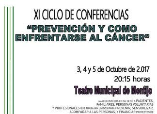 Cartel del XI Ciclo de Conferencias Prevención y cómo enfrentarse al Cáncer