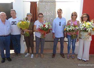 Inauguración del monolito conmemorativo del Campo de Fútbol Emilio Macarro Rodríguez