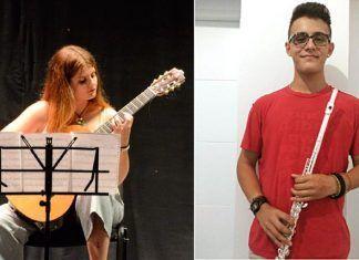 María Belén Aunión Leranca y Javier Zamora López-Sepúlveda, alumnos del Conservatorio Profesional de Música de Montijo