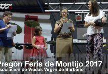 VÍDEO: Pregón Feria de Montijo 2017 por la Asociación de Viudas