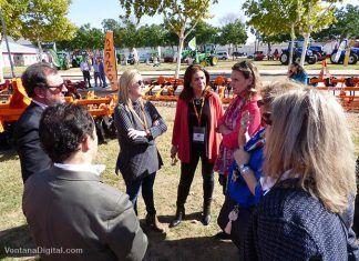 Autoridades en la inauguración de la II Feria Agroalimentaria Vegas Bajas