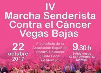 Cartel de la IV Marcha contra el Cáncer Vegas Bajas