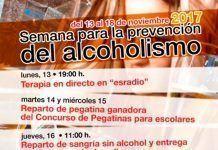 Cartel de la Primera Semana para la Prevención del Alcoholismo en Montijo