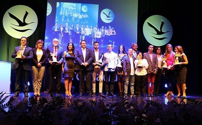 Premiados en la gala de los Premios Extremadura del Deporte