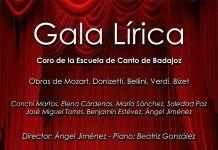 Cartel de la Gala Lírica en Montijo a favor de la AECC
