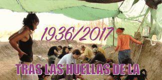 Cartel de la exposición Tras las huellas de la Memoria Histórica en Extremadura