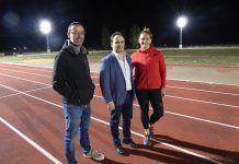 Inaugurada la iluminación de las pistas de atletismo Javier Cienfuegos de Montijo