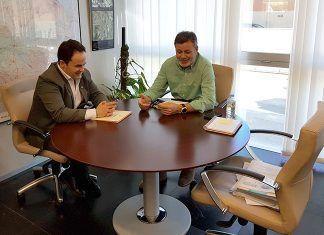Reunión del alcalde de Montijo con el director general de Infraestructuras