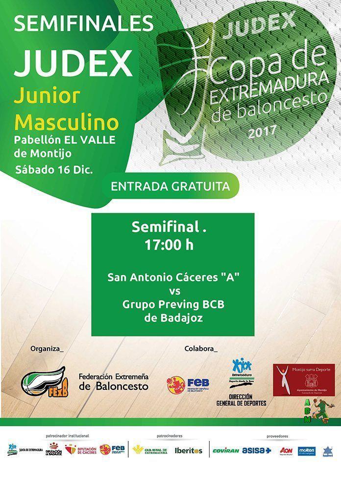 Cartel de la semifinal de baloncesto Copa de Extremadura en Montijo