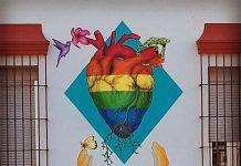 Mural de Pekolejo para la campaña Montijo sin Armarios de Mozzanca