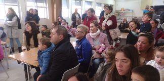 Asistentes a una de las actividades de la Escuela Infantil Alborada de Montijo