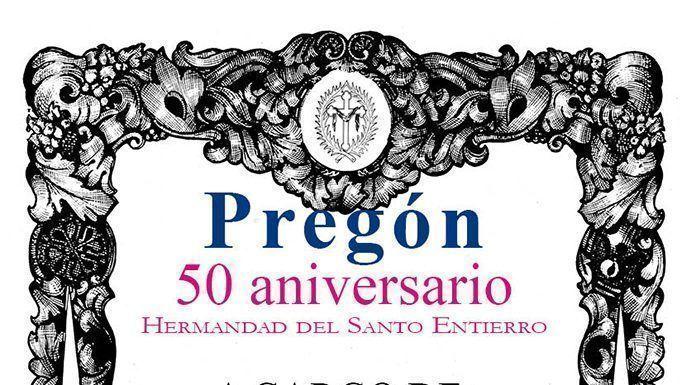 Cartel 50 años de la Hermandad del Santo Entierro de Montijo