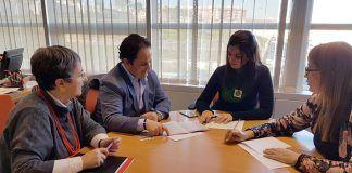 El alcalde y la concejala de Cultura del Ayuntamiento de Montijo se reunieron con la Secretaria General de Cultura