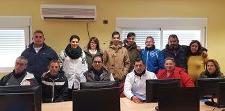 Aprendizaje a lo largo de la vida: Miembros de la Asociación Camino a la vida en el Curso de Informática impartido en Lobón