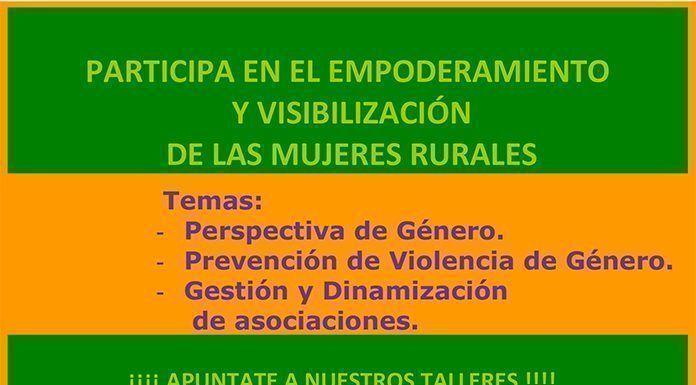 Cartel del Curso de empoderamiento y visibilización de las mujeres rurales