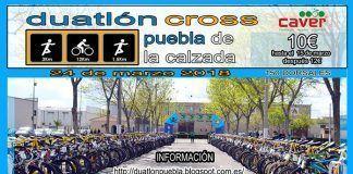 Cartel del Duatlón Cross Puebla de la Calzada 2018