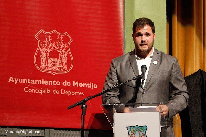 Javier Cienfuegos Pinilla en la Gala del Deporte Montijo 2018