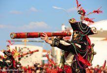 Participante en la Convivencia Carnavalera de Puebla de la Calzada 2018