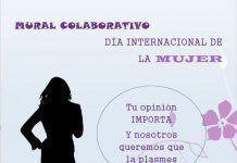 Cartel Mural colaborativo sobre la Mujer en el Espacio de la Creación Joven de Montijo