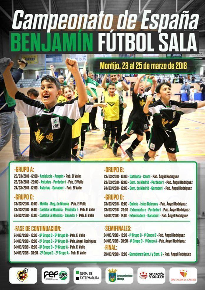 Cartel del Campeonato de España Benjamín de fútbol sala